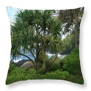 Poponi Maui Hawaii Throw Pillow