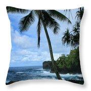 Poponi Ulaino Mokupupu Maui North Shore Hawaii Throw Pillow