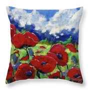 Poppies 003 Throw Pillow