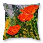 Poppies 107 Throw Pillow