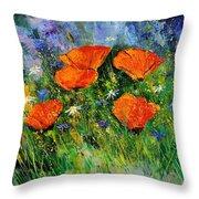 Poppies 79 Throw Pillow