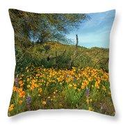 Poppies Abound Throw Pillow