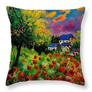 Poppies And Daisies 560110 Throw Pillow