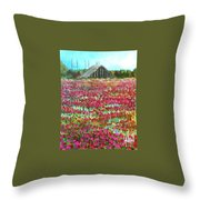 Poppies At Cedar Point Throw Pillow