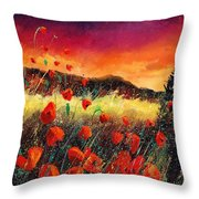Poppies At Sunset 67 Throw Pillow
