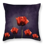 Poppies Fun 01b Throw Pillow
