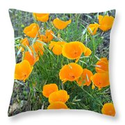Poppies II Throw Pillow