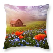 Poppies In A Dream Throw Pillow