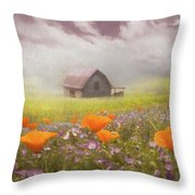 Poppies In A Dream Watercolor Painting Throw Pillow
