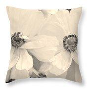 Poppies In Monochrome Throw Pillow