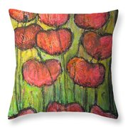 Poppies In Oil Throw Pillow