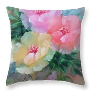 Poppies In Pastel Colors Throw Pillow