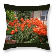 Poppies In Springtime Throw Pillow