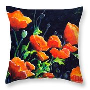 Poppies In The Light Throw Pillow