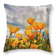 Poppies In The Wind Part Two  Throw Pillow