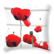 Poppies, Lovely Poppies Throw Pillow
