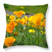 Poppies Meadow Summer Poppy Flowers 18 Wildflowers Poppies Baslee Troutman Throw Pillow
