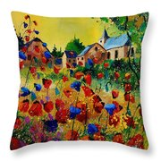 Poppies Sosoye Throw Pillow