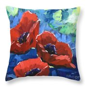 Poppies Splender Throw Pillow