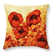 Poppin Poppies #2 Throw Pillow