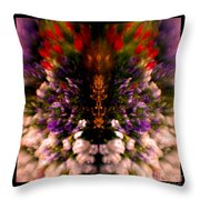 Popping Flowers Throw Pillow