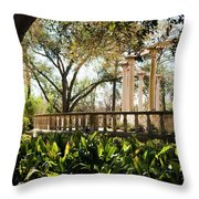Popp's Fountain Throw Pillow