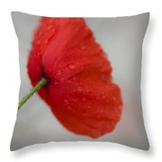 Poppy After The Rain Throw Pillow