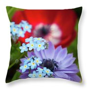 Poppy And Friends Throw Pillow