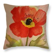 Poppy Art 17-01 Throw Pillow
