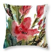 Poppy Blush Throw Pillow