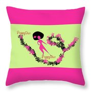 Poppy Chic Dance Throw Pillow