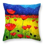 Poppy Cluster Throw Pillow