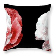 Poppy Confusion Throw Pillow