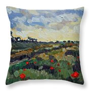 Poppy Dots Throw Pillow