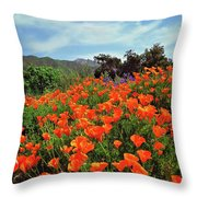 Poppy Explosion Throw Pillow
