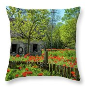 Poppy Farm Throw Pillow
