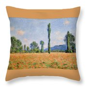 Poppy Field, Giverny Throw Pillow