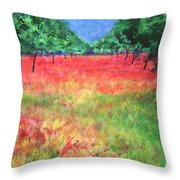 Poppy Field II Throw Pillow