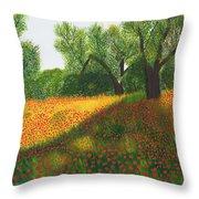 Poppy Field Throw Pillow