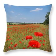 Poppy Fields 1 Throw Pillow