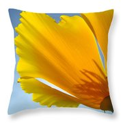 Poppy Flower Art Print Poppies 13 Botanical Floral Art Blue Sky Throw Pillow