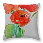 Poppy Flowers 1 Throw Pillow