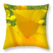 Poppy Flowers Art Prints Orange Poppies Baslee Troutman Throw Pillow