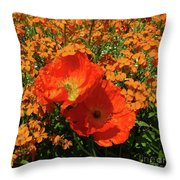 Poppy Glories Throw Pillow