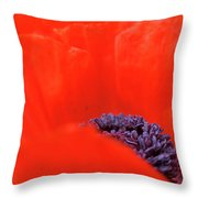 Poppy Heart I Throw Pillow
