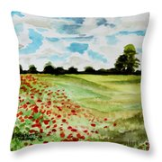 Poppy Meadow Throw Pillow