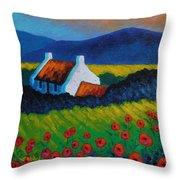 Poppy Meadow Throw Pillow by John  Nolan