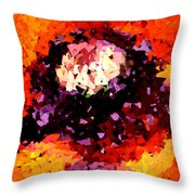 Poppy Mosaic Throw Pillow