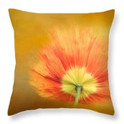 Poppy On Fire Throw Pillow