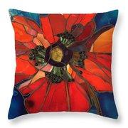 Poppy Passion Throw Pillow